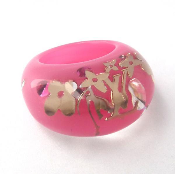 ルイヴィトン 指輪 バーグ アンクルージョン ローズポップ M65776 ピンク #13 LV ビトン LOUIS VUITTON ルイ・ビトン ルイ・ヴィトン【中古】