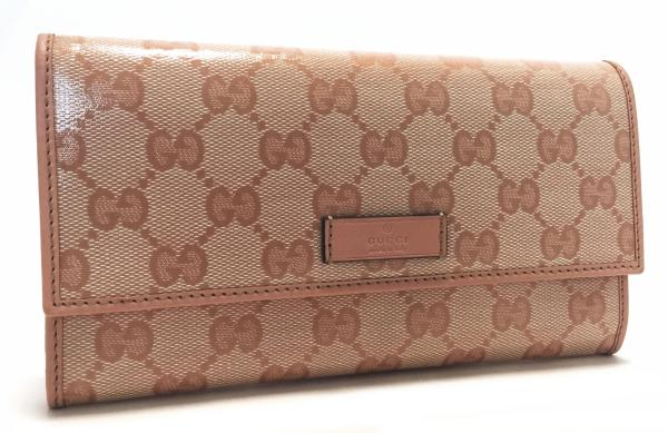 567e4c80ef3 Brand new as well as Gucci long wallet GG Pink ladies wallet GG Crystal  203573 GUCCI