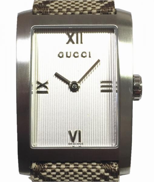 8b1460d3ca0 Unused Gucci watch GG ladies Watch Silver quartz watch 8600 J GUCCI GG  canvas women s White Dial