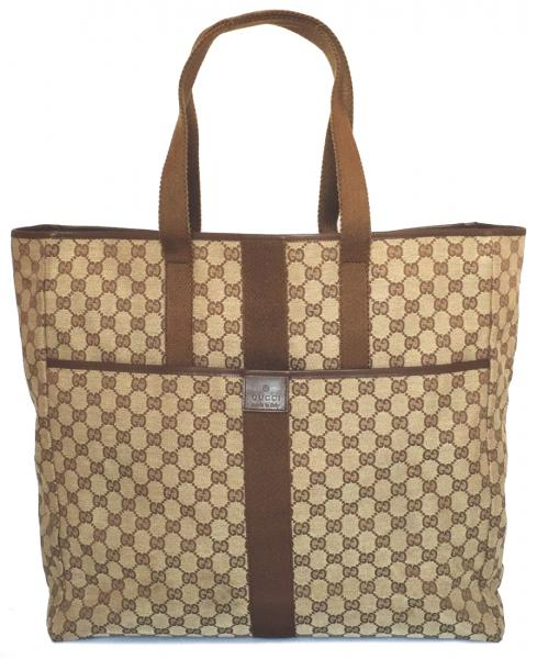 Gucci Oversized Tote Bag Travel Shoulder Gg Canvas Men S Large Mint Las