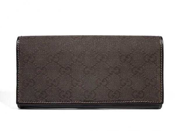 e256f429442 Gucci long wallet GG purse Brown Brown GG canvas leather mens Womens GUCCI