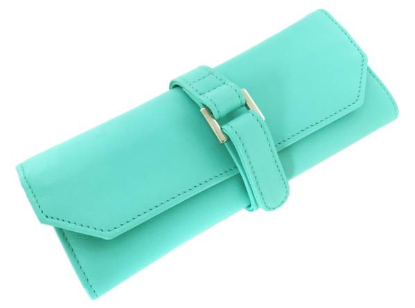 83eff47feaf Tiffany jewelry roll jewelry pouch case leather TIFFANY Womens accessory  case Tiffany blue Mint ...