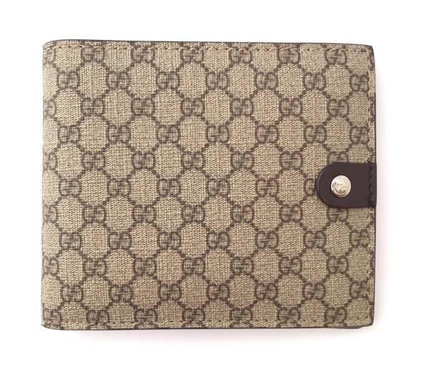 040bea08d1fe Folded unused Gucci wallet purse case two micro guccissima GG Supreme mens  GUCCI guccissima