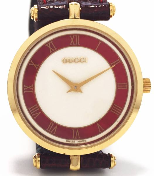 Beauty products Gucci watch 2040 men old Gucci watches Andy k leather belt leather belt watch GUCCI embossing leather quartz