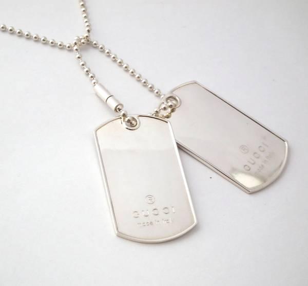 05e661747 Gucci necklace silver dog tag mens Womens Silver 925 Silver accessory GUCCI  men unisex men women ...