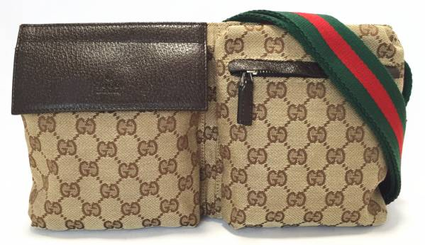 b3cfed6daa2 Gucci waist bag belt bag GG canvas Sherry Crossbody Shoulder bag 28566 GUCCI  men s women s