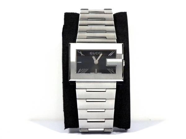 新品同様 グッチ 腕時計 Gレクタングル Gモチーフ 100L YA1005 レディース ウォッチ 黒文字盤 GUCCI 【中古】