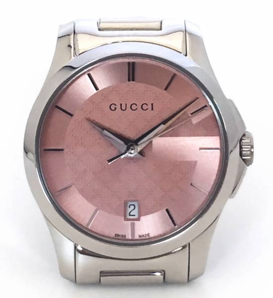4763e8378ff Brand new as well as Gucci watch ladies Pink Silver g-timeless small  stainless steel watch GUCCI ladies watch SS 126.5 Diamante