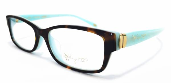 2c6cbb68887 Unused Tiffany eyewear glasses frames Tiffany blue tortoiseshell pattern  TF2115 TIFFANY ladies case with glasses
