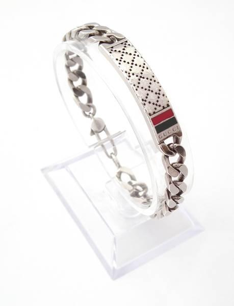 71ba0dfd25cd Silver 925 bracelet with Gucci diamantissima Kihei silver bless Diamante  Sherry GUCCI mens