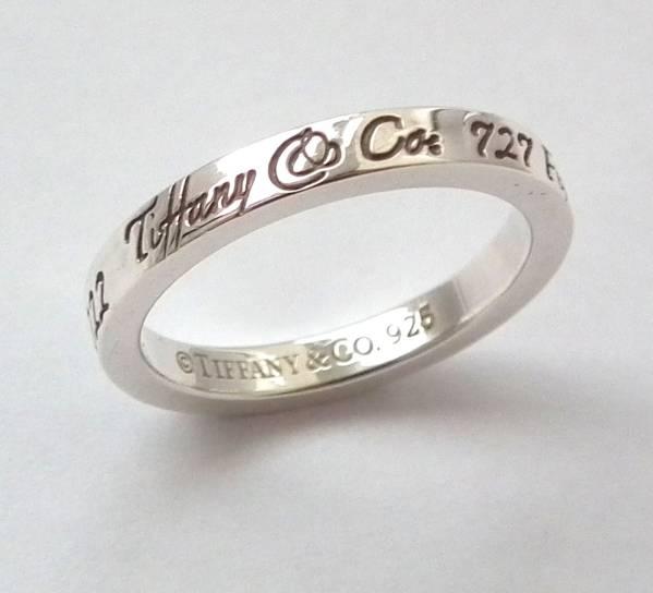 053553ff7 Tiffany Silver ring ring Naut ring # 11 NewYork narrowband women's TIFFANY  silver products ring ring ...