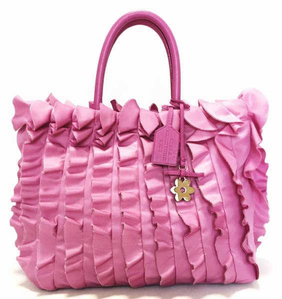 7202e07e69fd Prada ruffled tote bag pink BN1734 Hawaii limited edition handbags PRADA  flower charm with women s nylon
