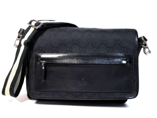 eeb895d2167 Gucci GG canvas shoulder bags diagonal seat 019 0375 black men and women  and for mens Womens GUCCI