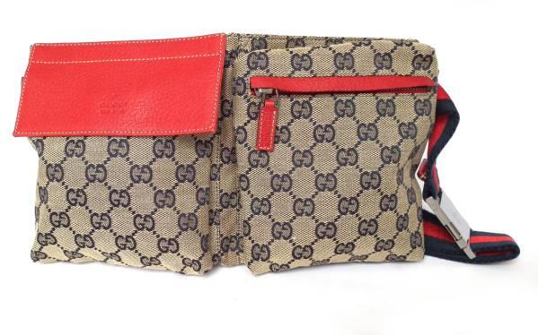 5ec1a823d05dd4 Beauty products Gucci waist bag belt bag GG canvas Sherry Crossbody  Shoulder bag 28566 GUCCI mens ...