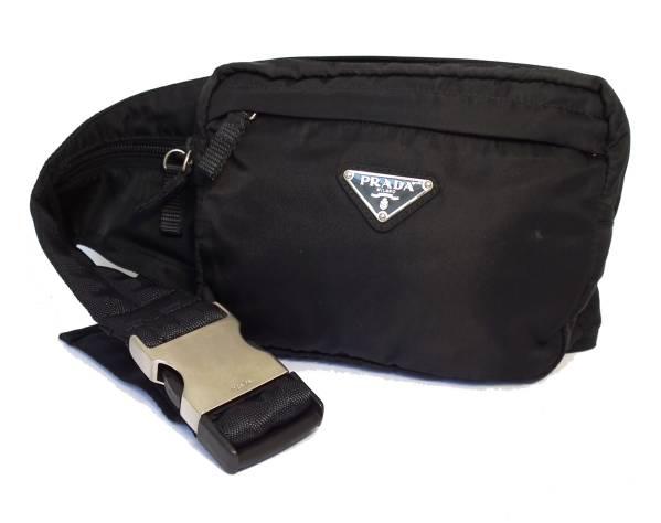2cd6a38773ea Prada waist pouch bag Shoulder bag cross body black nylon PRADA men women  ...