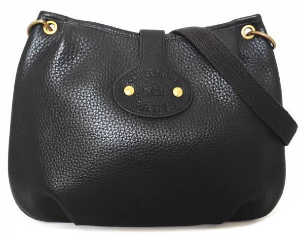 Hermes Rodeo shoulder bag black diagonal seat Tryon HERMES leather ladies  logo slanted seat shoulder 480ede2373