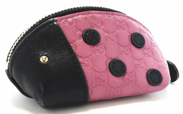 e2c2a947dbf Gucci coin purse coin purse Ladybird Zoo GG leather GUCCI zooseries Ladybug  micro GG Shima Reza micro guccissima