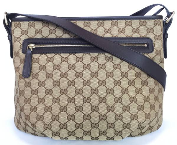 ae6c51e2dc2e Unused diagonally over the Gucci shoulder bag GG beige Pochette women's GG  canvas 388930 GUCCI ...