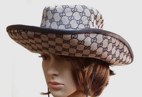 0ca5e9e16a898 Gucci Hat GG canvas Fedora Hat ladies cowboy hats girls GG pattern GUCCI