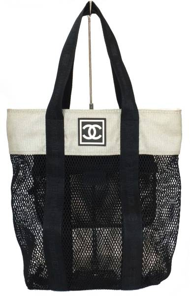 Chanel mesh Tote Bag Black sport line outdoor CHANEL shoulder bag mesh bag  men women 5838c6b1618fa