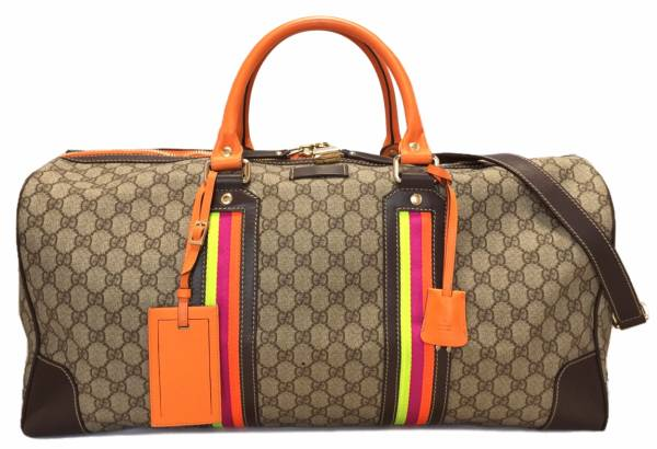 8afe6420574a Gucci 2-WAY Boston bag duffel bag travel bag GG Plus Orange GUCCI 201477 travel  bag shoulder with GG Supreme beauty products