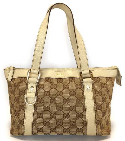 e93297d01ab Gucci handbag GG canvas 141471 mini tote bag Abbey line GUCCI lunch bag Tote  ladies beige GG beauty products