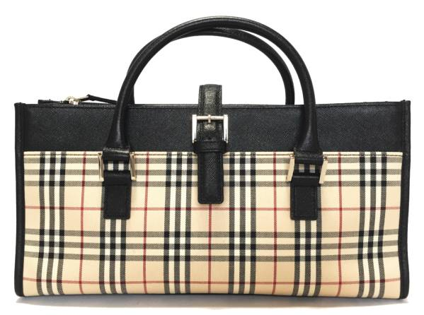 831b885451c9 Burberry handbags check black ladies beige BURBERRY Nova check tote bag  mini tote bag Mint