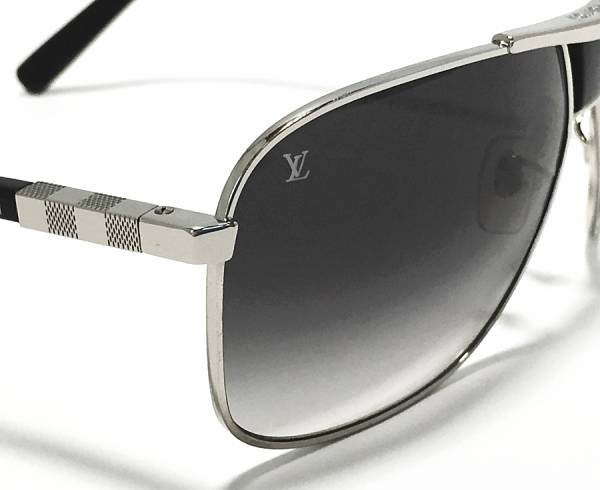 Louis Vuitton sunglasses attraction PM Z0403U black Damier men's black LV Vuitton LOUIS VUITTON Louis Vuitton Louis Vuitton beauty products