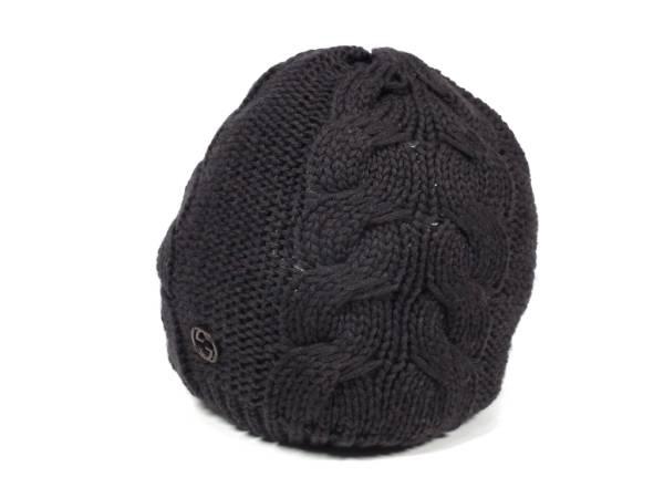 fd522de1b69 Gucci Cap Caps interlocking Brown wool knit balloon cable knit GUCCI M size  mens ladies