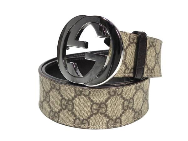 6726fe180 Gucci belt GG plus interlocking G 114984 # 34 PVC 85 cm men's GUCCI GG  buckle ...