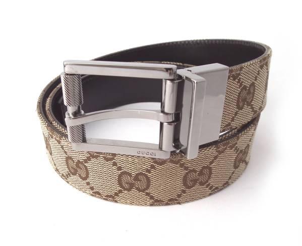 b45b50b727b Gucci reversible belt 95 cm GG canvas brown leather GUCCI GG Mint men women