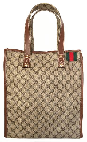 8ed189b8060 Brand new as well as Gucci tote bag GG plus GG Supreme shopping bag mens  Womens GUCCI 001364 Sherry PVC unisex