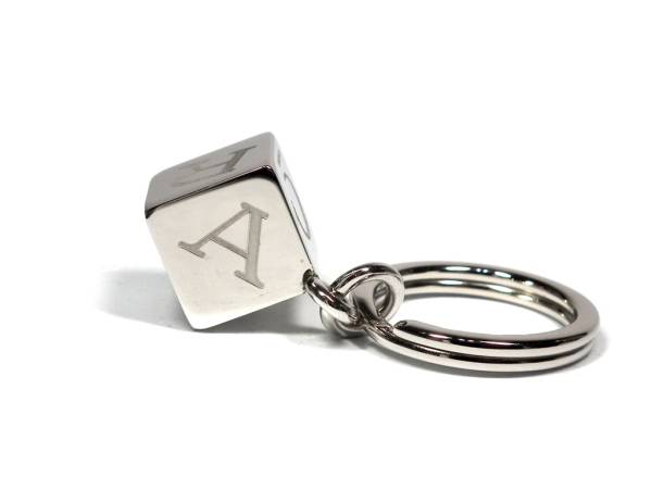 Unused Cartier key ring decoration dice T1220156 cube key ring Cartier cube logo