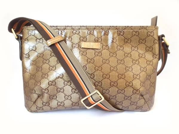 a03fdb4cd8c8 Take Gucci shoulder bag GG slant; crystal GG with GG crystal men gap Dis  gold GUCCI coating canvas line