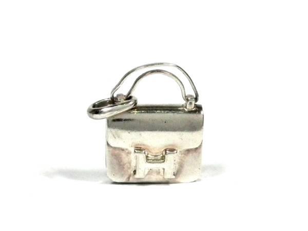 エルメス ペンダント チャーム シルバー SV925 コンスタンス バッグ型 銀製 PH ペンダントヘッド HERMES ネックレストップ 【中古】