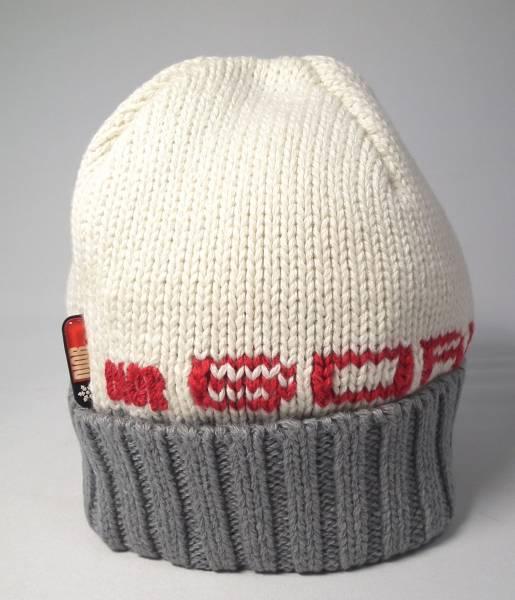 新品同様 クリスチャンディオール 帽子 ニッキャップ ニット帽 ホワイト×グレー レディース 10A DIOR 【中古】