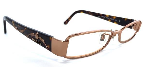 프라다 안경 안경 안경 프레임 로고 레이디스 가는 다테 안경 안경 프레임 PRADA VPR72L 안경 프레임 핑크 골드 브라운 메탈 패션 안경