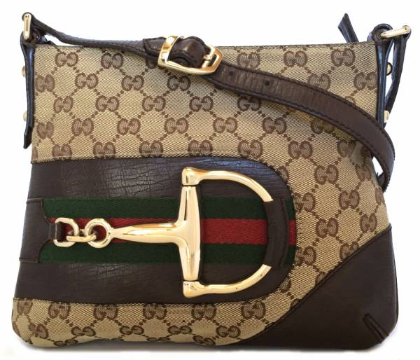 0173e89ba690 Take Gucci GG canvas shoulder bag 141506 half bit metal fittings sherry  color slant; GUCCI ...