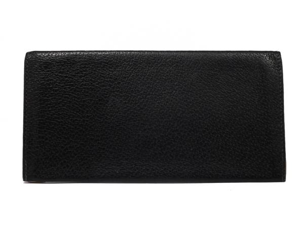 214cfaeadbb Gucci wallet long billfold folio old Gucci black leather men genuine leather  GG GUCCI