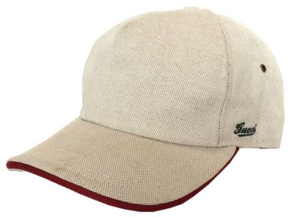 Gucci cap hat baseball hat GUCCI baseball cap men gap Dis natural beige red  XL GG canvas sherry cap cb98f089da0