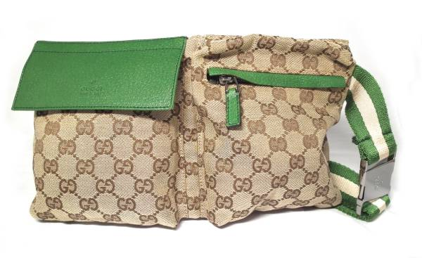 7218b4c885d Gucci GG pattern bum-bag belt bag GG men waist porch body bag beige green  28566 GUCCI Lady s hips bag PVC men man and woman combined use