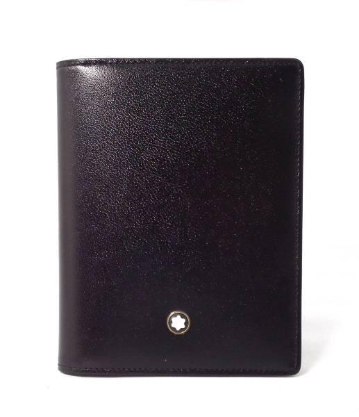 未使用 訳あり モンブラン カードケース 名刺入れ レザー 本革 ブラック 黒 メンズ MONTBLANCeDHIEW29Y