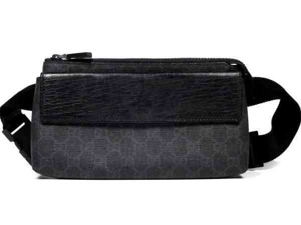 ba32ec426dac Gucci bum-bag body bag GG plus GG GG pattern 161833 PVC black men GUCCI ...