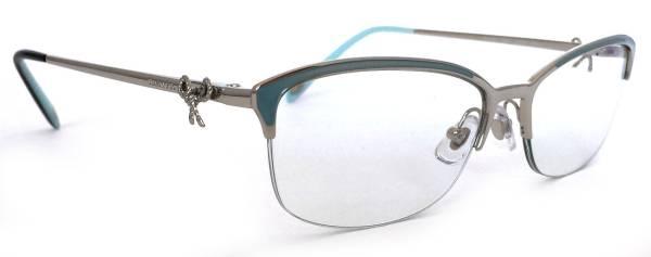 未使用 ティファニー メガネ 眼鏡 メガネフレーム リボン TF1102 めがね 縁なし シルバー ハーフリムフレーム TIFFANY レディース ティファニーブルー 【中古】