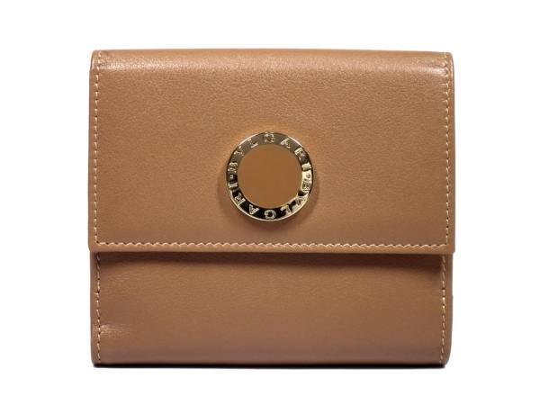 未使用 ブルガリ 財布 Wホック 二つ折り財布 ブルガリ ブルガリ 33383 ブラウン 両面財布 レザー カーフ BVLGARI 二つ折り 本革 レディース 【中古】