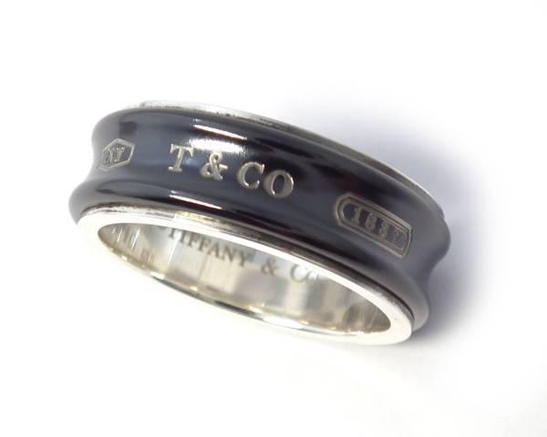 a281f72531ecd Tiffany ring titanium silver 1837 men's 25 925 TI ring black black T & CO  TIFFANY beauty product