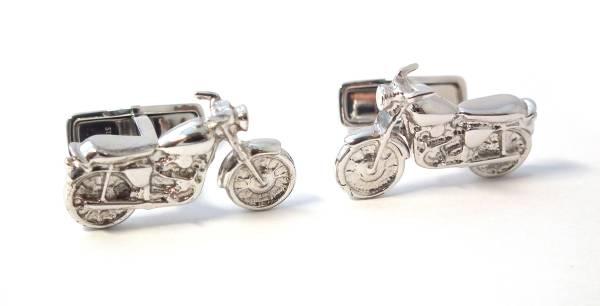 【値下げ】新品同様 ダンヒル カフス バイク SV925 シルバー オートバイ カフリンクス カフスボタン 銀製 dunhill メンズ 紳士用 【中古】