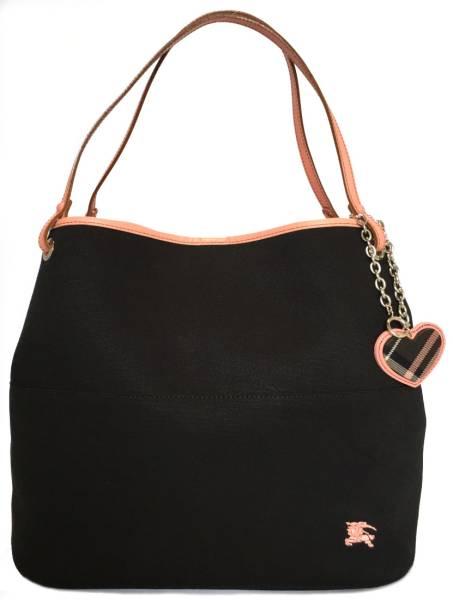 c62649e40658 Like-new Burberry blue label tote bag shoulder bag canvas Lady s black black  pink BURBERRY BLUE LABEL SANYO SHOKAI