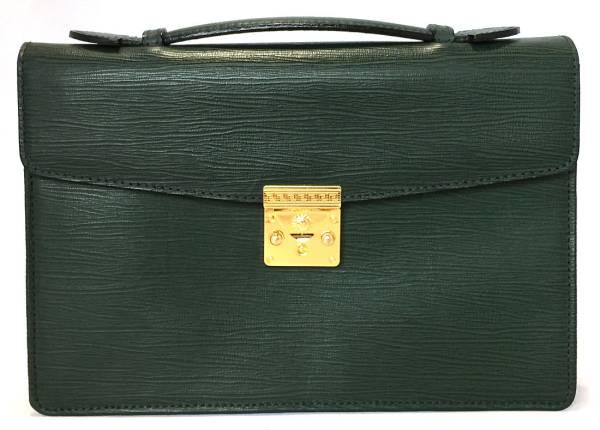 73a50f8929c3 Men s handbag dark green dark green for the Versace second bag sun sunburst  VERSACE business bag business case green ITALY leather men gentleman