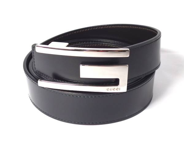 0376f360e4f Gucci belt men black black leather 110cm genuine leather G buckle GUCCI  beauty product